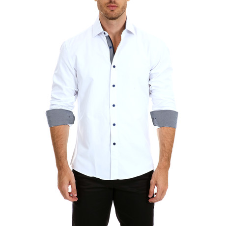McConnell Long-Sleeve Button-Up Shirt // White (S)