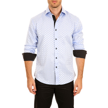 Kane Long-Sleeve Button-Up Shirt // Blue (XS)