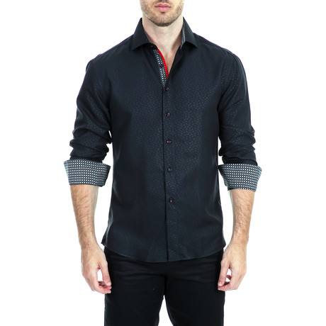 Hopkins Long-Sleeve Shirt // Black (XS)