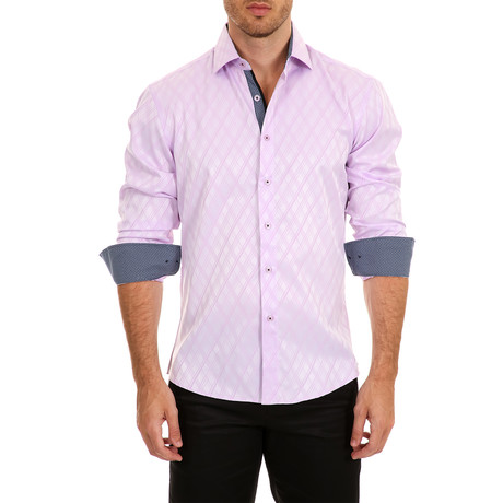Gibbs Long-Sleeve Button-Up Shirt // Pink (XS)