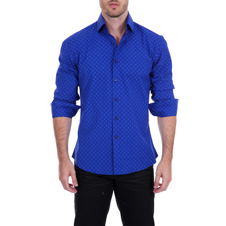 Bullock Long-Sleeve Button-Up Shirt // Blue (XS)