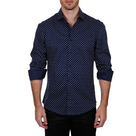 Dudley Long-Sleeve Shirt // Navy (XS)
