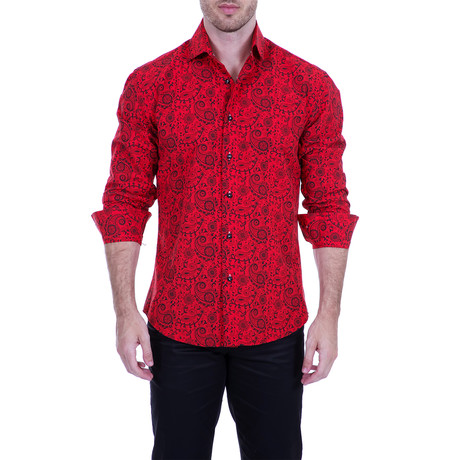 Valdez Long-Sleeve Shirt // Red (XS)
