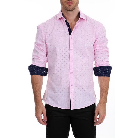 McGrath Long-Sleeve Button-Up Shirt // Pink (XS)