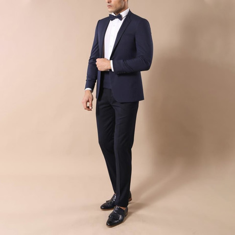 Homer Slim-Fit 2-Piece Tuxedo // Navy (Euro: 44)