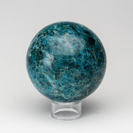 Polished Blue Apatite Sphere