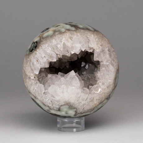 White Quartz Geode Sphere