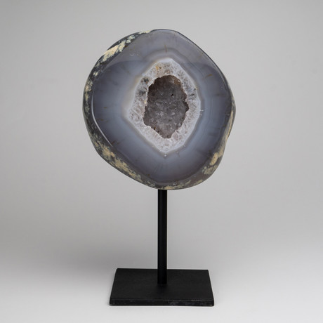 Natural Banded Agate Geode on Stand // 6lbs
