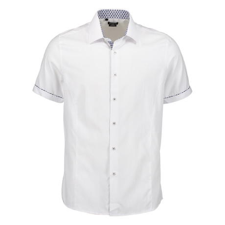 Aldrich Short Sleeve Button Up Shirt // White (S)
