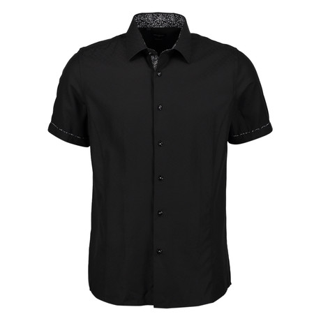 Aldrich Short Sleeve Button Up Shirt // Black (S)