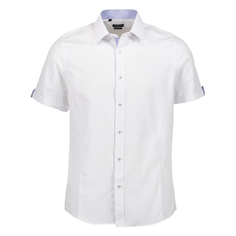 Camden Short Sleeve Button Up Shirt // White (S)