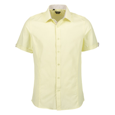 Camden Short Sleeve Button Up Shirt // Yellow (S)