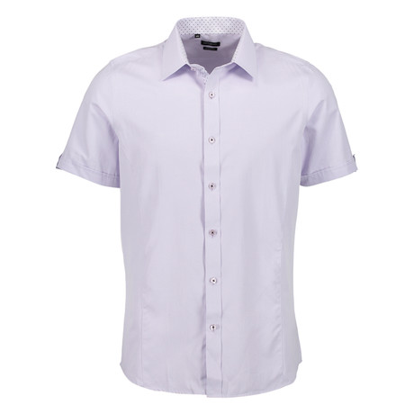 Camden Short Sleeve Button Up Shirt // Lavender (S)