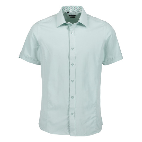 Camden Sleeve Button Up Shirt // Light Green (S)