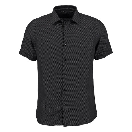 Oswald Short Sleeve Button Up Shirt // Black (S)