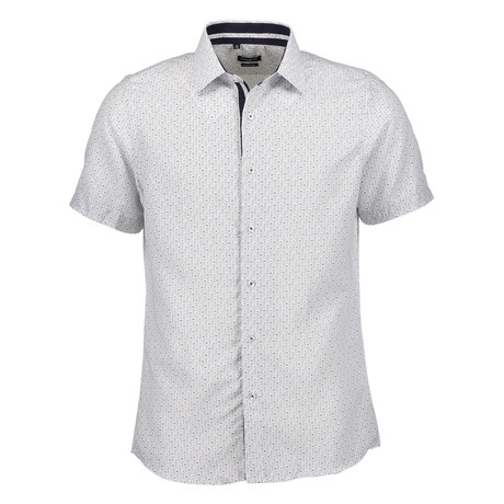 Walter Short Sleeve Button Up Shirt // White (S)