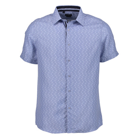 Walter Short Sleeve Button Up Shirt // Blue (S)