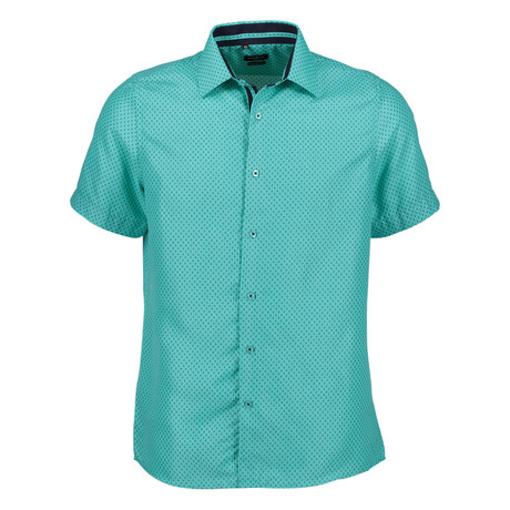 Harland Short Sleeve Button Up Shirt // Teal (S)