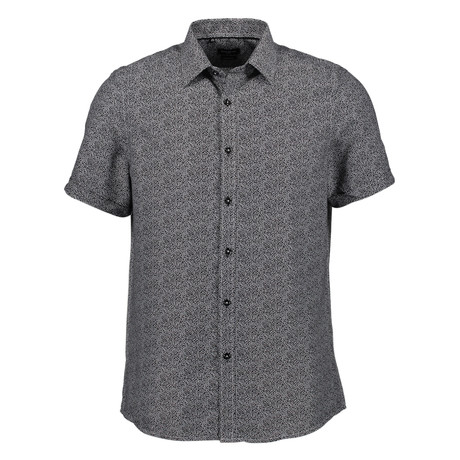 Trevor Short Sleeve Button Up Shirt // Black (S)