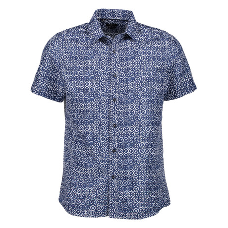 Brad Short Sleeve Button Up Shirt // Navy (S)