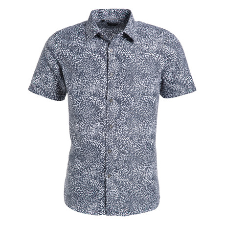 Jacob Short Sleeve Button Up Shirt // Navy (S)