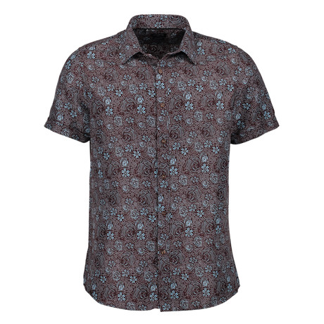 Tayte Short Sleeve Button Up Shirt // Multicolor (S)