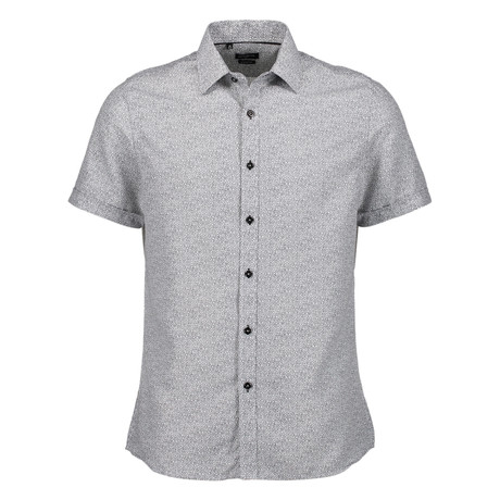 Trevor Short Sleeve Button Up Shirt // Gray (S)