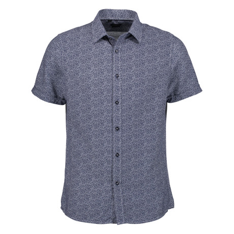 Trevor Short Sleeve Button Up Shirt // Navy (S)