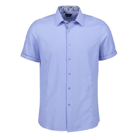 Aldrich Short Sleeve Button Up Shirt // Blue (S)