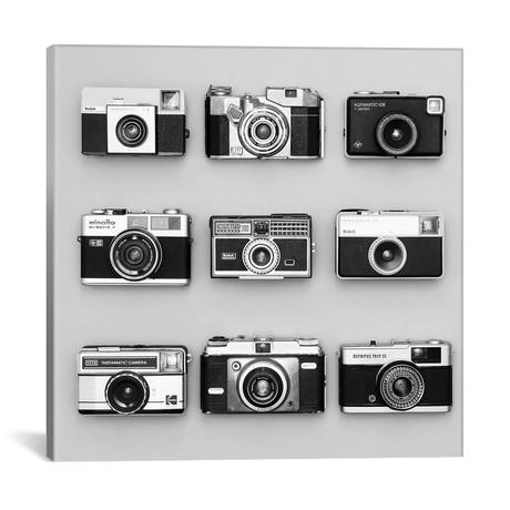 """9 Antique Cameras by Tom Quartermaine (18""""W x 18""""H x 0.75""""D)"""