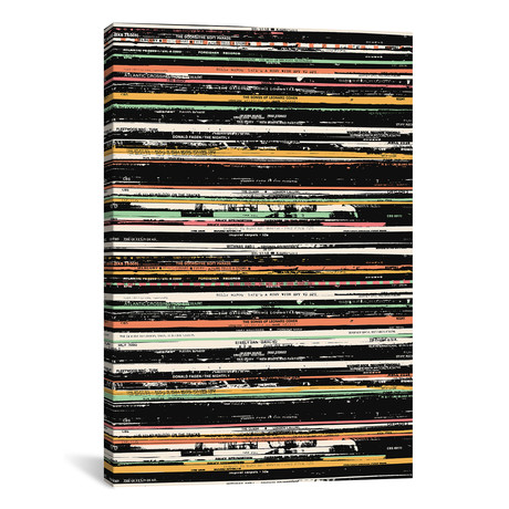 "Recordsss by Florent Bodart (18""W x 26""H x 0.75""D)"