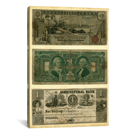 """Antique Currency V by Vision Studio (18""""W x 26""""H x 0.75""""D)"""