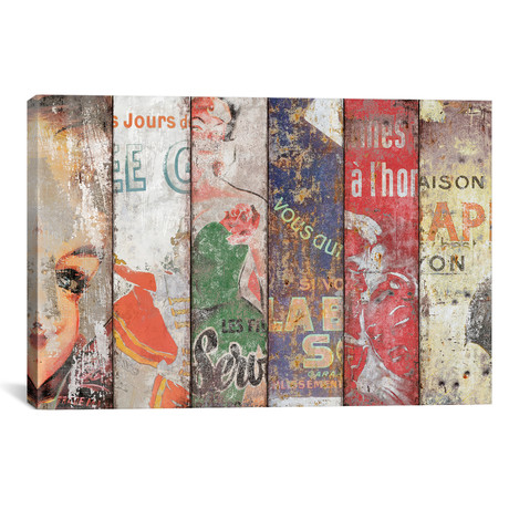 """Vintage Posters Collection I by Diego Tirigall (26""""W x 18""""H x 0.75""""D)"""