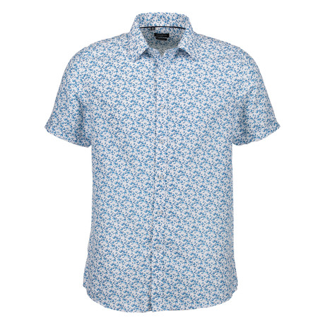 Roger Short Sleeve Button Up Shirt // Light Blue (S)