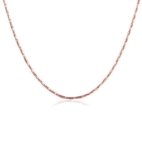 Sleek Italian Chain Necklace // 14K Rose Gold Plated