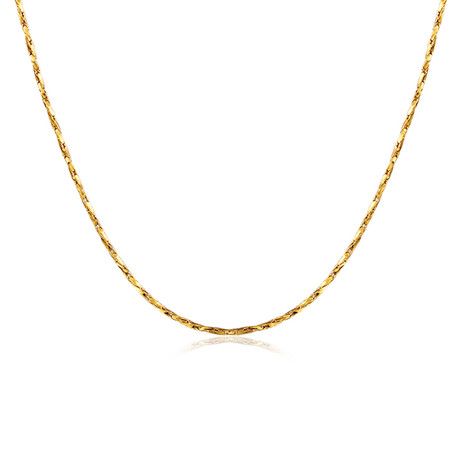 Sleek Italian Chain Necklace // 14K Gold Plated