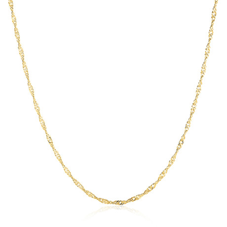 Singapore Chain Necklace // 14K Gold Plated