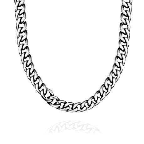 Italian Curb Chain Necklace // Stainless Steel
