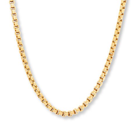 Modern Venetian Box Chain Necklace // 14K Gold Plated