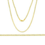 New York Curb Chain Necklace // 14K Gold Plated