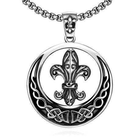 Circular Notre Dame Pendant Necklace // Stainless Steel