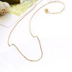 Sleek Italian Chain Necklace // 14K Gold Plated