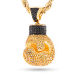 Pavé Boxing Glove Pendant Necklace // 14K Gold Plated
