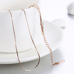 New York Italian Chain Necklace // 14K Rose Gold Plated