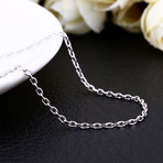 Italian Curb Chain Necklace // 14K White Gold Plated