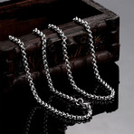 Mini Mesh Curb Chain Necklace // Stainless Steel