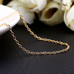 Mini Curb Chain Necklace // 14K Gold Plated