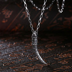 Curved Filligree Tiger's Tooth // Stainless Steel