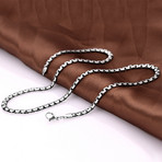 Curved Box Chain Necklace // Stainless Steel