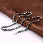 Bicycle Chain Statement Necklace // Stainless Steel